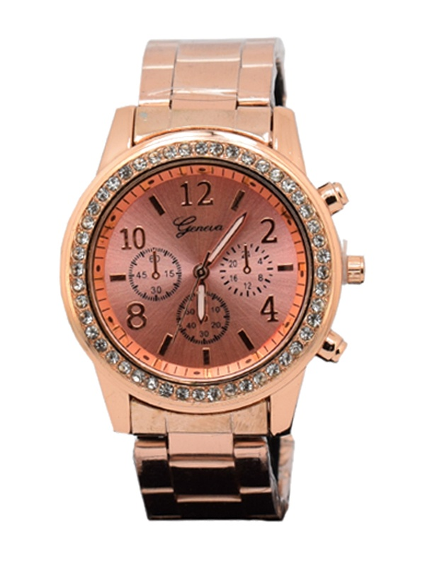 Geneva Platinum Women's Two-Tone Metal Quartz Watch