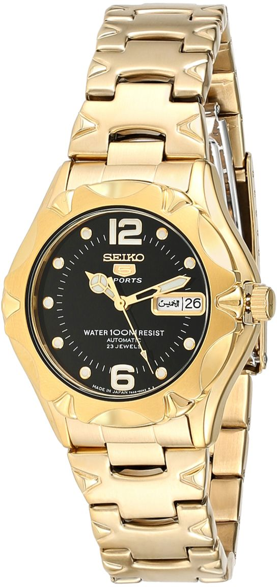 Seiko Men's Black Dial Stainless Steel Band Watch - SNZ462J1