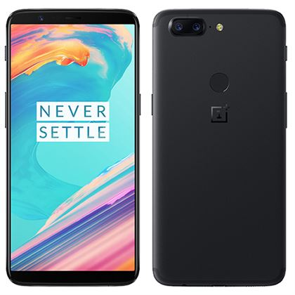 One Plus 5T  Dual SIM - 128GB, 8GB RAM, 4G LTE, Midnight Black