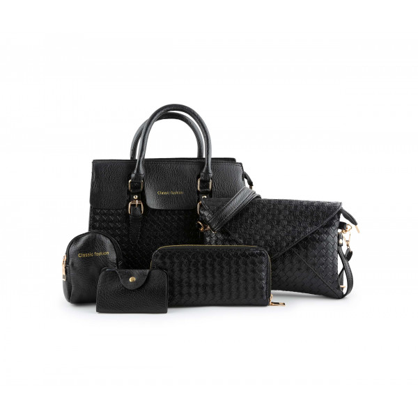 LADIES HAND BAG COMBO SET OF 5 CLASSIC FASHION