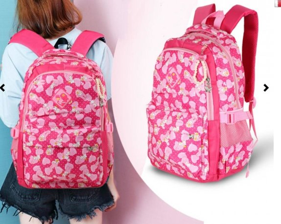 GIRLS SCHOOL BAG PINK