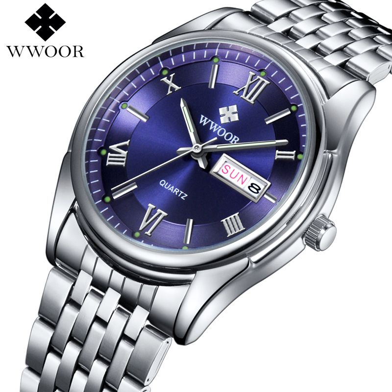 Wwoor  Men Luxury Brand Fashion Quartz Watch Luminous Display