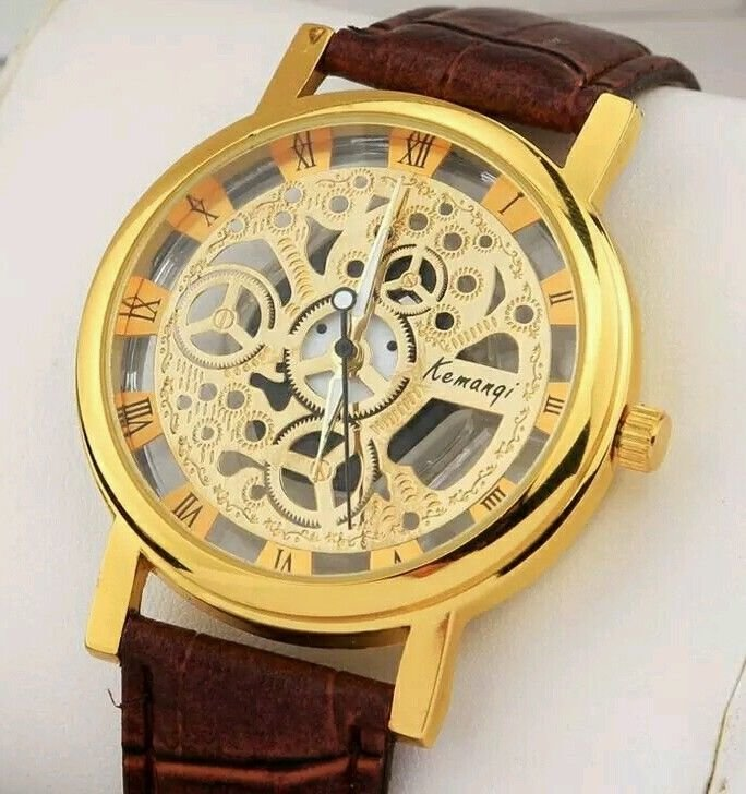 Mechanical Skeleton Mens Fashionable Wrist Watch