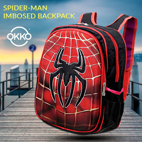 SCHOOL BAG SPIDER MAN EMBOSSED